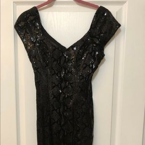 Guess Black Sequin Dress